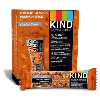 caramel almond pumpkin spice kind bars