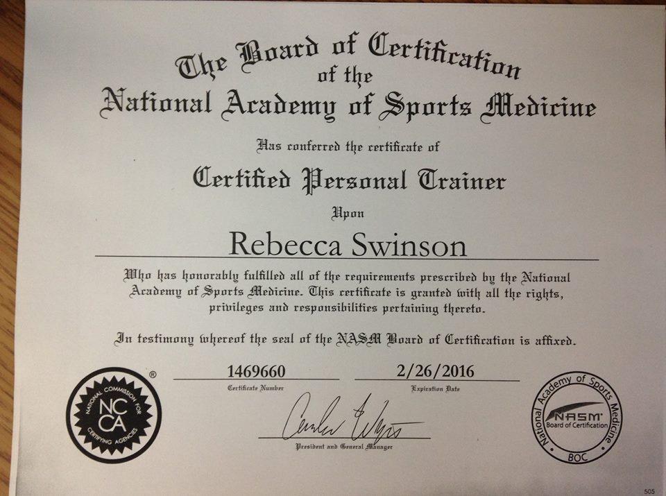 Rebecca Swinson PBM Fitness