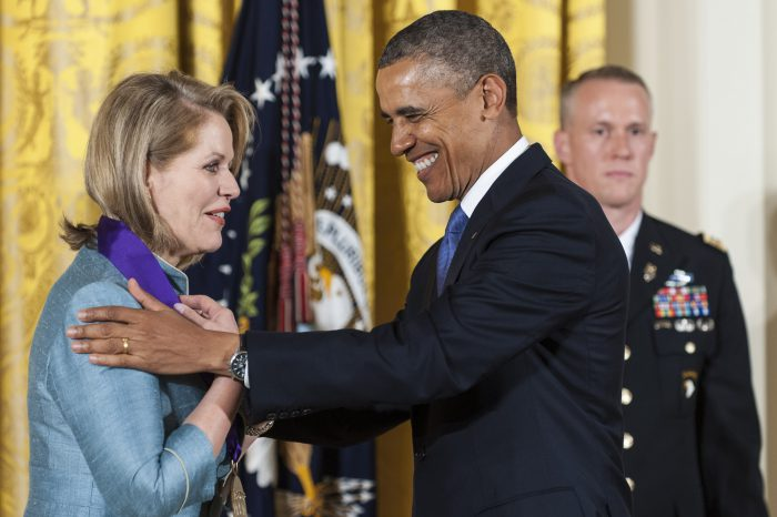 Renee Fleming and President Obama