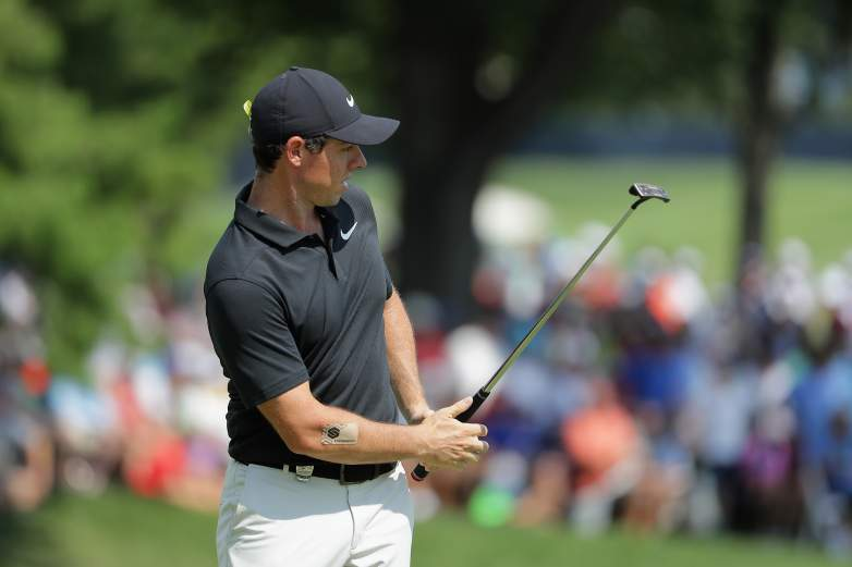 Rory McIlroy arm patch