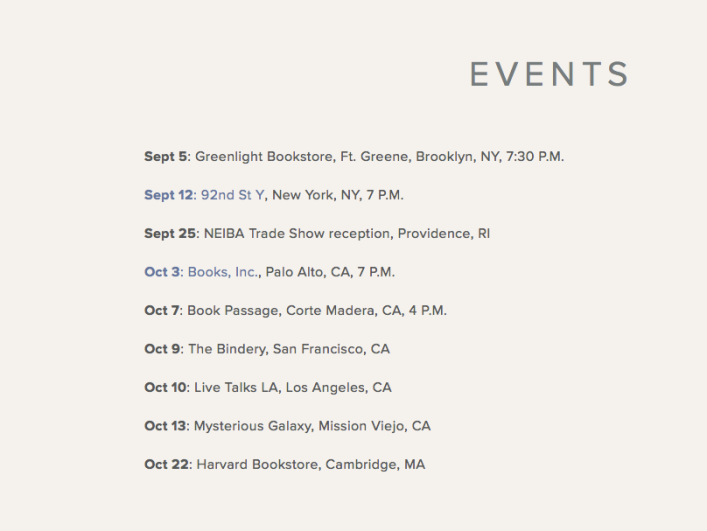 Lisa Brennan-Jobs book tour schedule