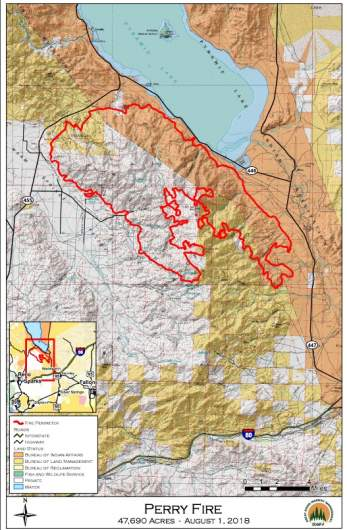Perry Fire Map