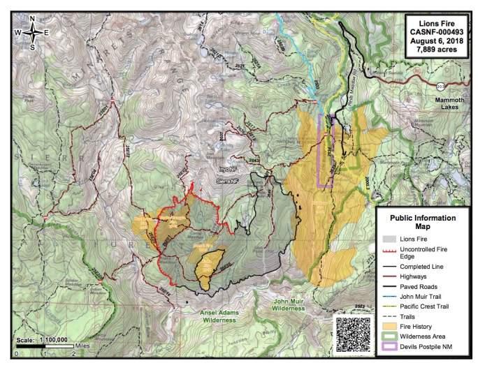 Lions Fire Map