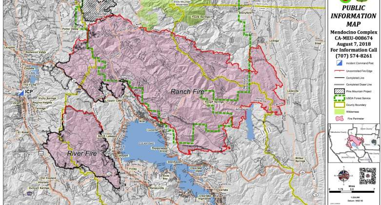 Ranch and River Fire Maps