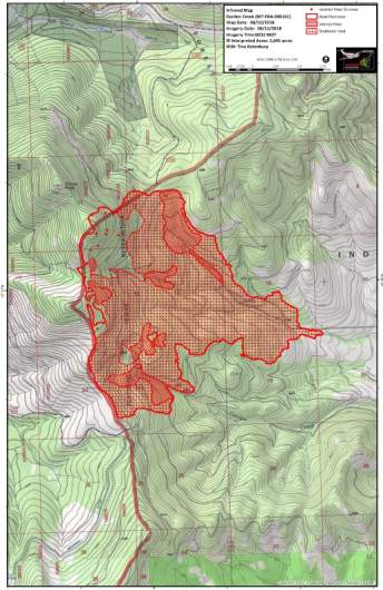 Garden Creek Fire Map