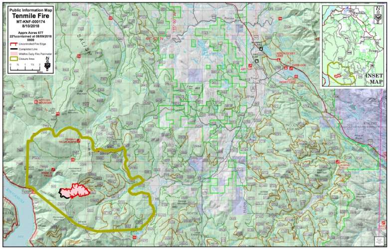 Tenmile Fire Map
