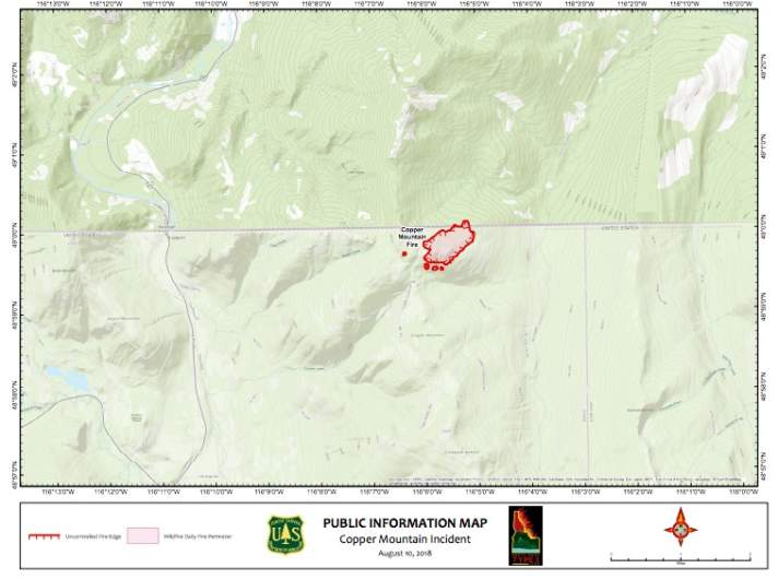 Cooper Mountain Fire Map
