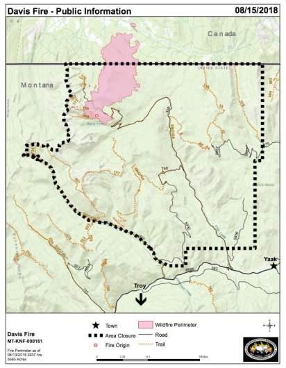 Davis Fire Information Map