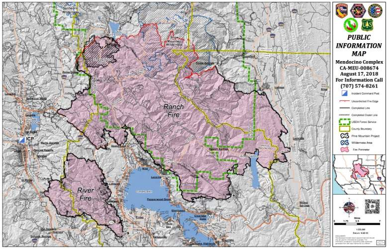 Ranch and River Fire Map