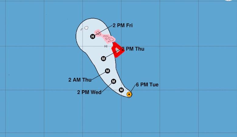 Hurricane Lane tracker
