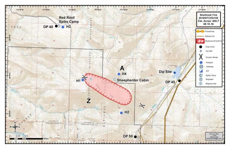 Shellrock Fire Map