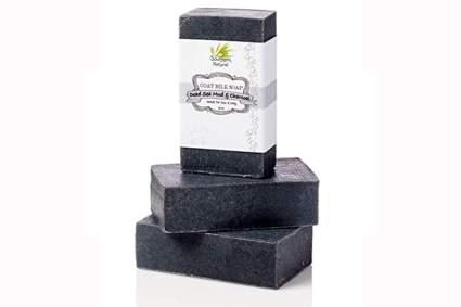 black detoxifying goat milk soap