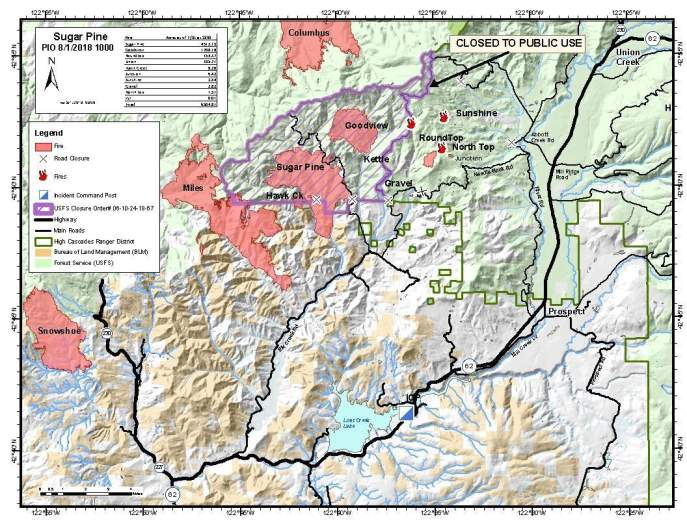 Sugar Pine Fire Map