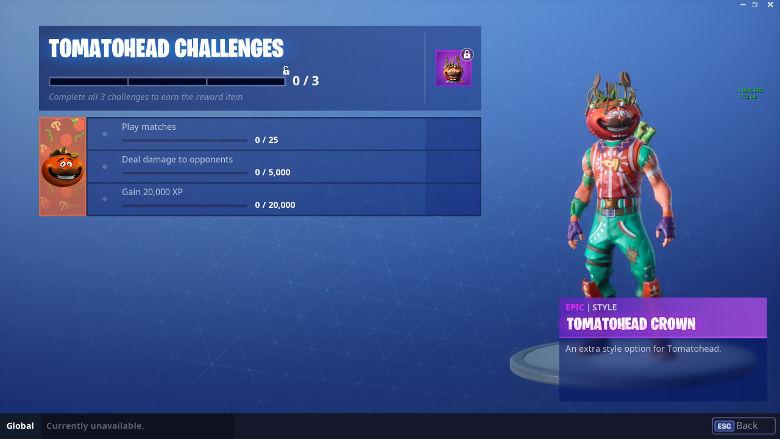 Tomatohead Challenges Fortnite