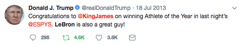 Trump LeBron