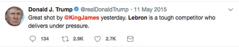 LeBron Trump Twitter