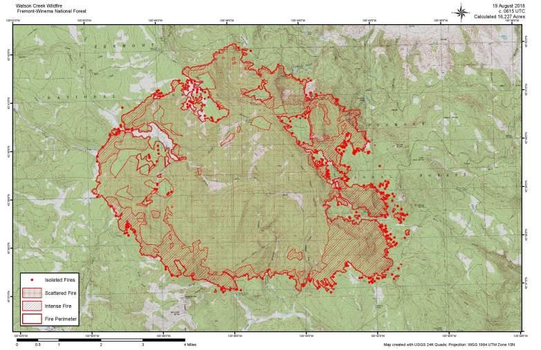 Watson Creek Fire Map
