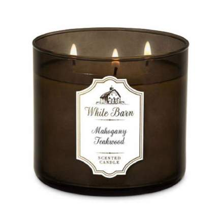 white barn man candle