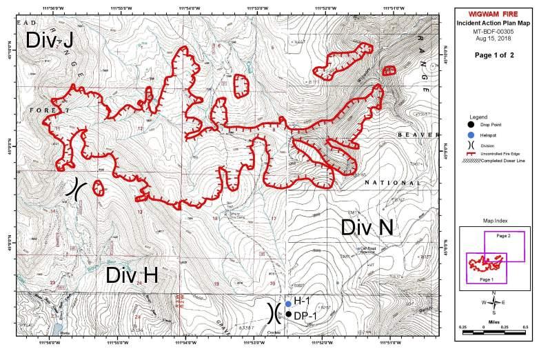 Wigwam Fire Map
