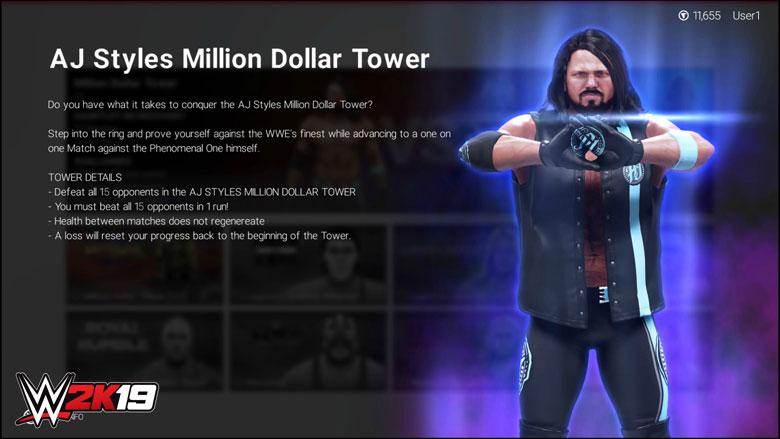 WWE 2K19 AJ Towers