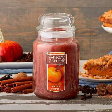 yankee candle spiced pumpkin