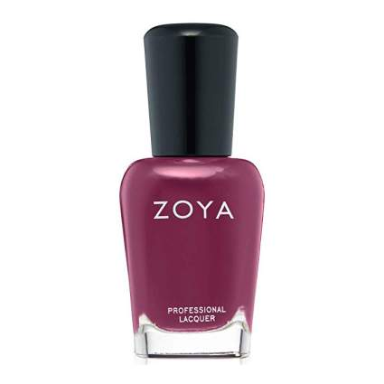 Berry red nail polish from Zoya