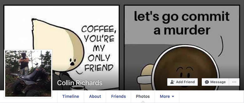 Collin Daniel Richards Facebook page
