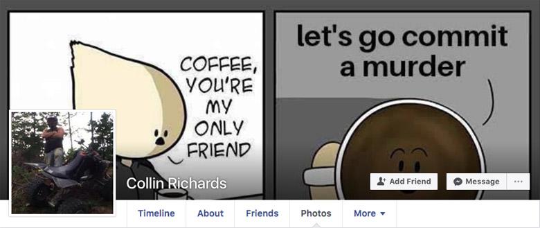 Collin Daniel Richards Facebook page