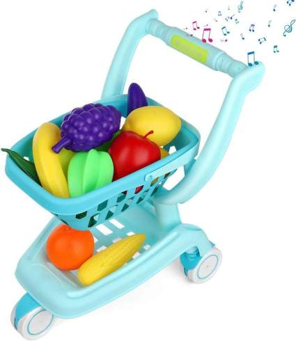 Auggie Kids Shopping Cart Grocery Cart Toy