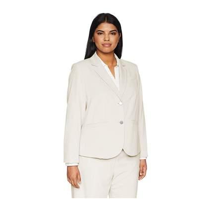 cream Calvin Klein two button plus size blazer