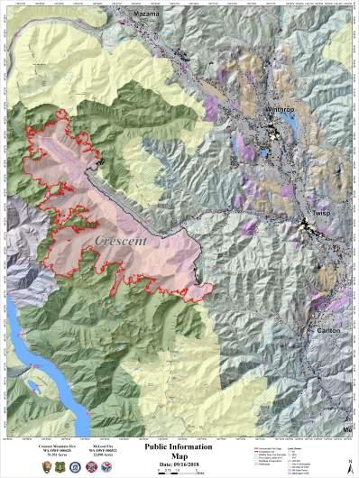 Crescent Mountain Fire Map