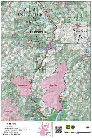Delta Fire and Hirz Fire map
