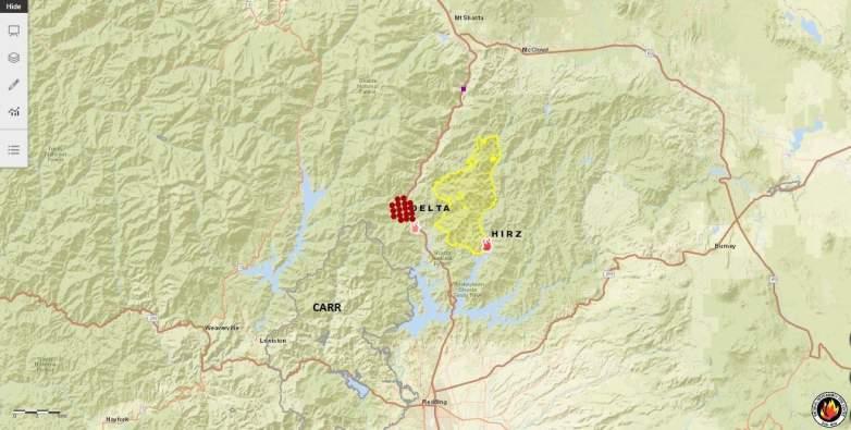 Delta Fire Location