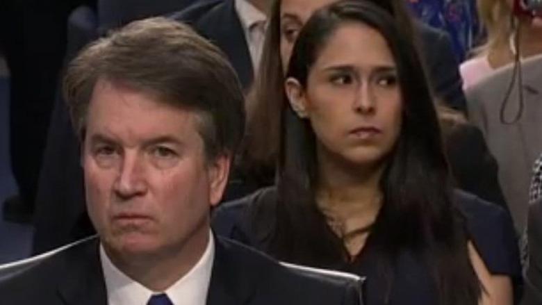 Woman Sitting Behind Kavanaugh