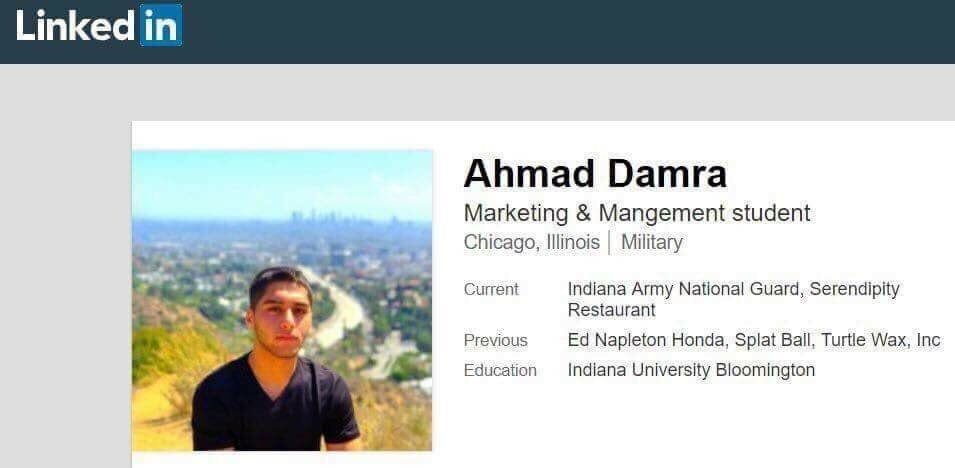 Ahmad Damra Indiana National Guard