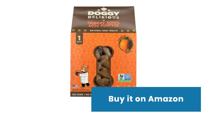 doggy delirious pumpkin dog treats