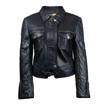 black leather plus size motorcycle jacket