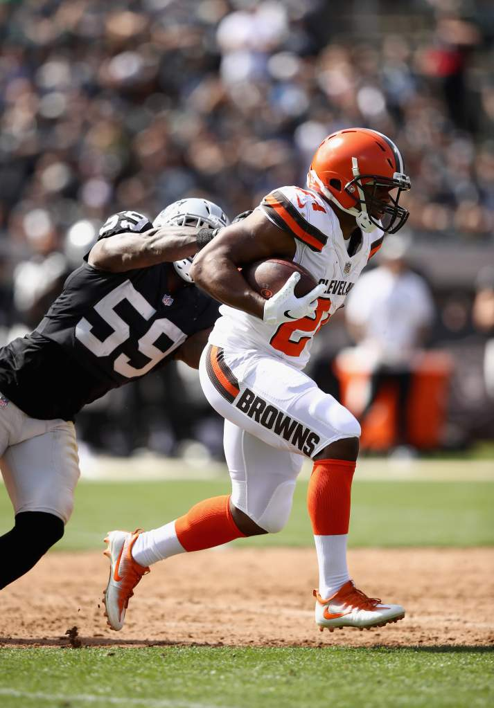 Cleveland Browns v Oakland Raiders Nick Chubb