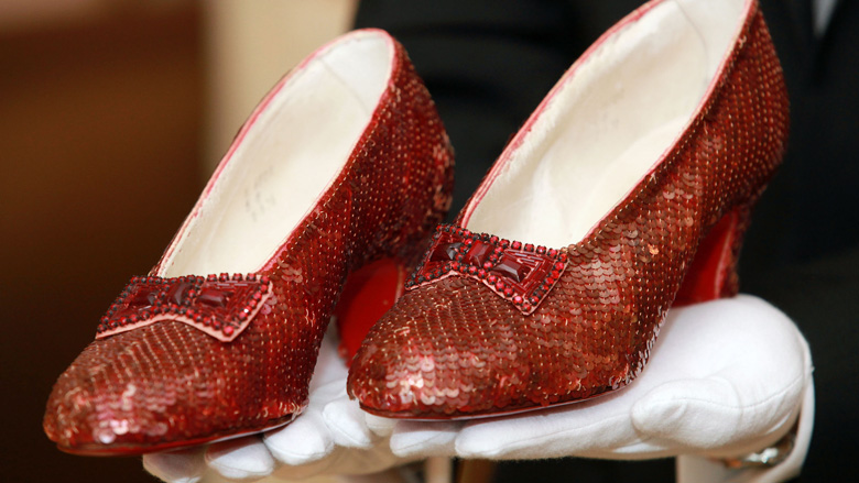 Stolen ruby slippers recovered