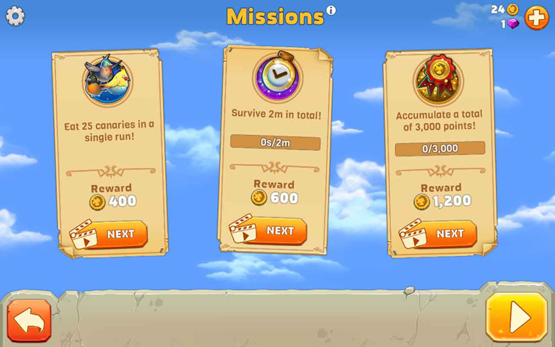 Hungry Dragon Missions