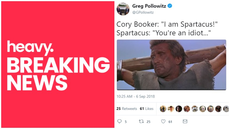Cory Booker I am Spartacus