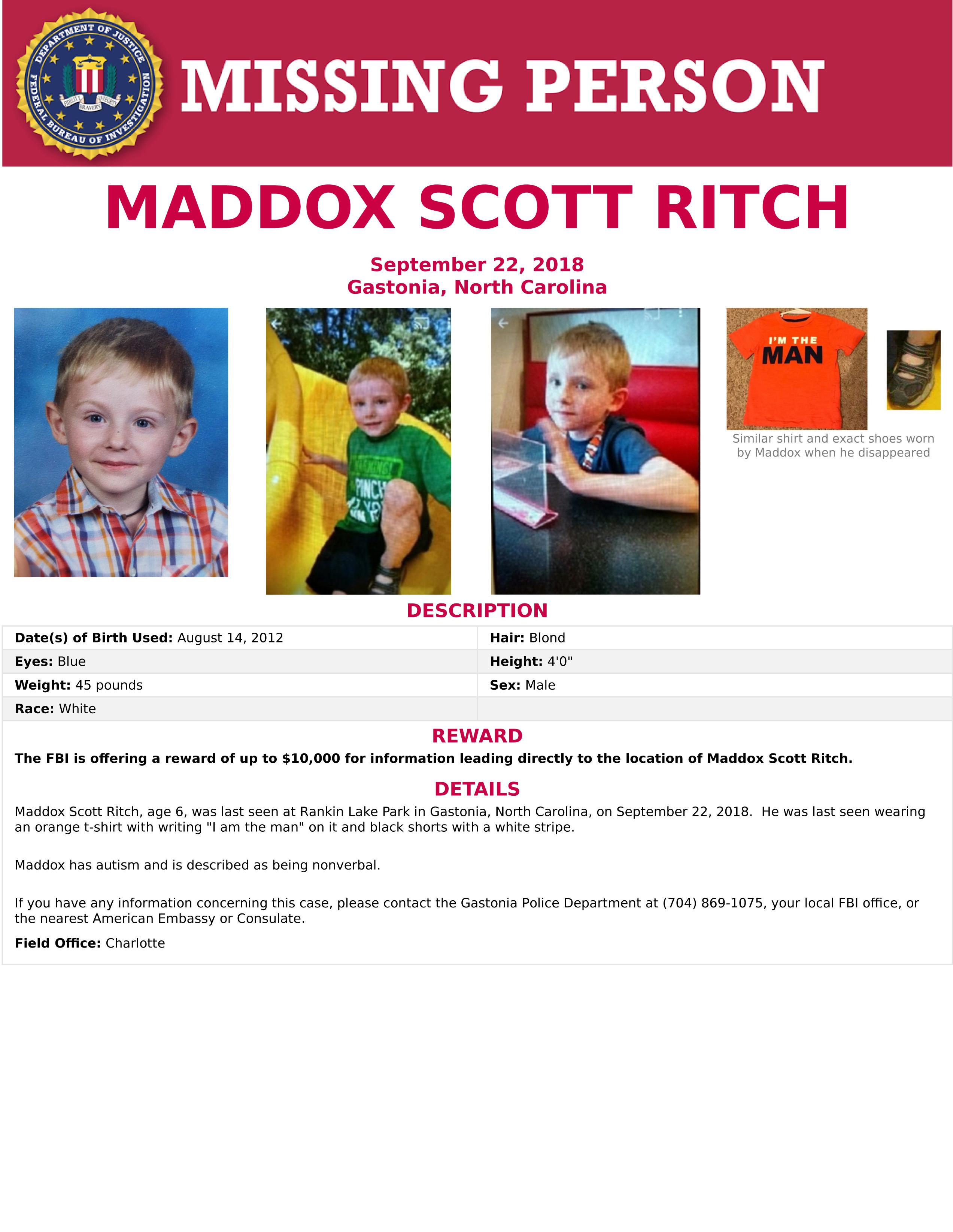 Maddox Ritch FBI