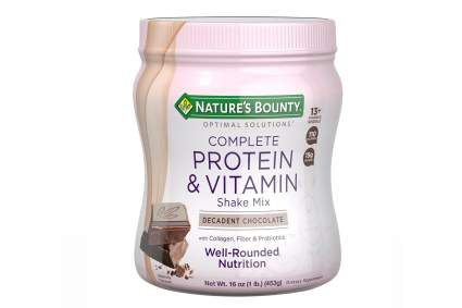 Nature's Bounty Optimal Solutions Protein Shake Chocolate, 16 Ounce Jar, Protein and Vitamin Shake Mix for Women, with Added Nutrients best protein shakes for women