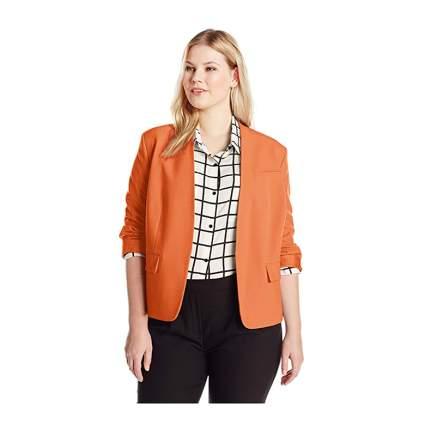 Orange plus size kiss front jacket