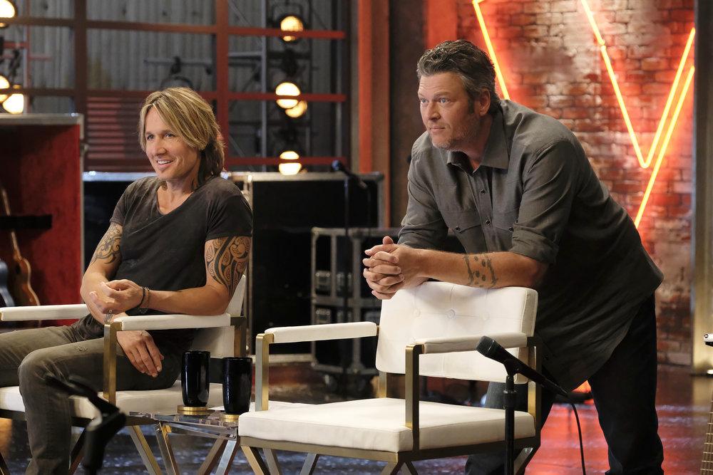 Keith Urban and Blake Shelton On The Voice