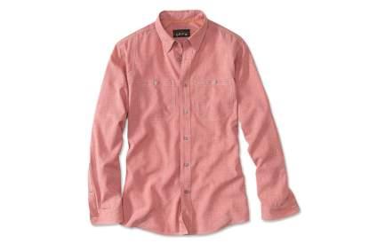 orvis chambray fly fishing shirt