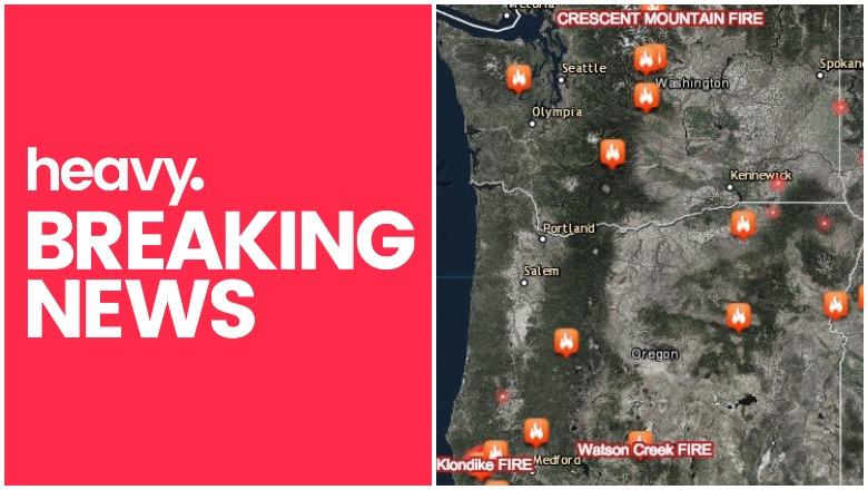 Oregon and Washington Fire Map
