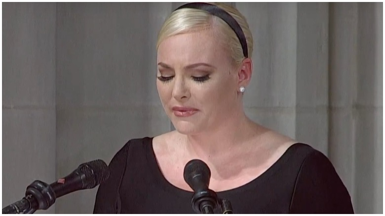 Meghan McCain delivers a powerful eulogy at her father's funeral Saturday morning