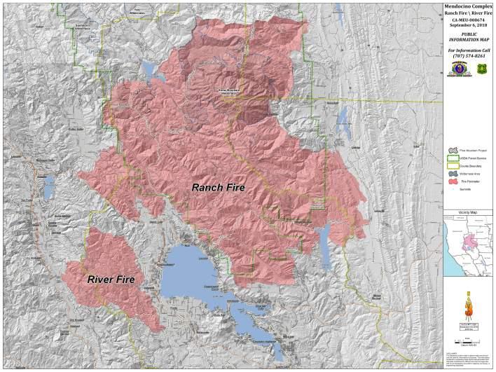 Ranch Fire Map