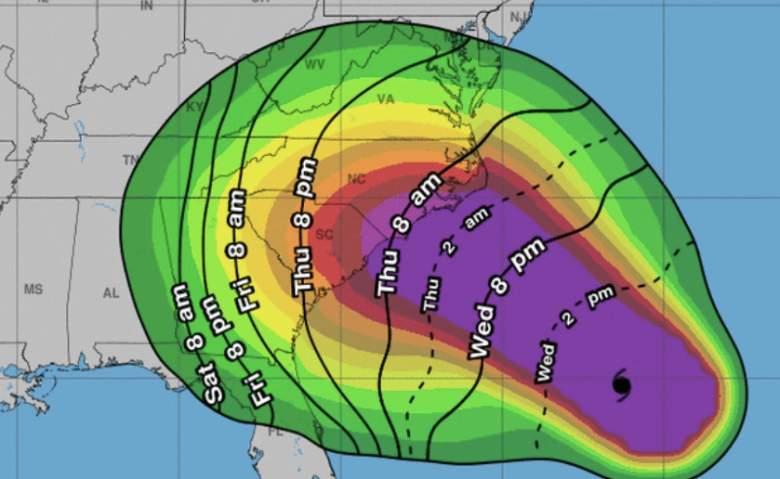 hurricane florence storm surges